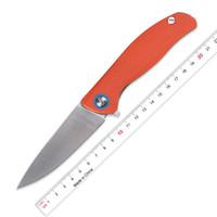 Kanedeiia F3 Flipper складной нож D2 стальное лезвие, оранжевый G10 + титан ручка открытый спорттоваров EDC кемпинг приключение инструмент