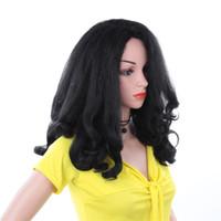 Parrucche sintetiche della fibra termoresistente di nuovo arrivo da 20 pollici per le donne diritte ed estremità dell'onda Parrucche nere nere di afro