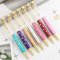 21 Creative Color DIY presente do metal canetas esferográficas casamento Auto-preenchimento Pen Escola Stationery Office Supplies Escrita presente