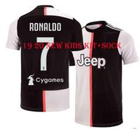97f89df86 New Arrival. 19 20 Juventus Home childrens Soccer Jersey 2019 JUV 7 Ronaldo  Cuadrado CR7 HIGUAIN DYBALA ...