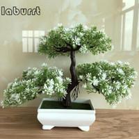 New Artificial Bonsai Ganoderma Árvore Lotus Pinheiro Simulação flor da planta Bonsai Set Simulação Plantas em vasos Home Decor
