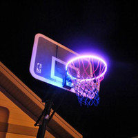 40^LED Basket Hoop Solar Light Playing At Night Lit Basketba...
