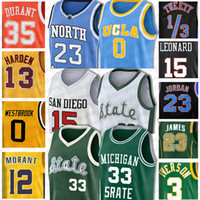 NCAA Russell Westbrook 0 basquete Jersey Donovan Jersey Mitchell John Stockton 12 Karl Malone 32 Rudy 27 Gobert Ricky Rubio 3 Universidade