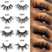 3D mink cils 100% véritable vison cils 22-25 mm de long dramatique épais de faux lashs à la main Crisscoss EXTENSIONS Beauty Maquillage 3 Série