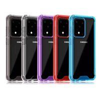 투명한 크리스탈 Shockproof 아크릴 하드 전화 케이스 삼성 갤럭시 S30 S21 울트라 노트 20 Plus A02 M02 A51 A70E A90 A21S M31S M51 A11 A32 4G A52 A72 클리어 백 커버