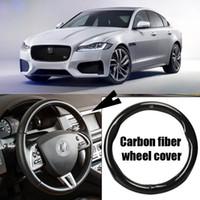 Couvre volant sport en cuir de carbone pour voiture Jaguar XF
