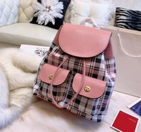 The hottest brand recommended ladies plaid backpack designer...