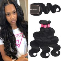 9A Remy Brazilian Body Wave Virgin Hair With 4x4 Lace Closur...