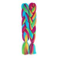 Lans 24 pulgadas largas sintético de ganchillo de color entre Jumbo Braid 100 g / pc Ombre Rosa Púrpura Azul Rubia Trenzado la extensión del pelo