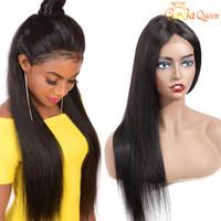 4x4 норки бразильские волосы девственницы кружева передние волосы волосы для чернокожих женщин бразильские прямые кружевные парики Gaga Queen