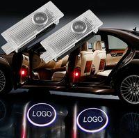 لباب أودي سيارة خفيفة الظل شبح أهلا أضواء الليزر العارض LED باب السيارة شعار لأودي A1 A3 A5 Q3 Q5