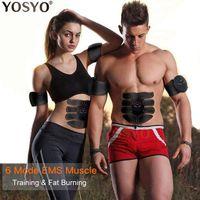 EMS мышц Стимулятор Тренер Смарт Фитнес Брюшной Обучение Электрический Вес тела для похудения устройство с RETAIL BOX