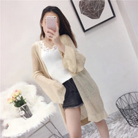 Women Summer Thin Sunscreen Cardigan Casual Loose Long Sleev...