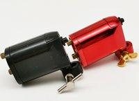 2 pezzi Nero Rosso ROTARY TATTOO MACHINE / GUN nuova buona qualità rotativa del tatuaggio della mitragliatrice del rifornimento