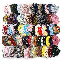 Rope scrunchy fascia Hairbands Vintage Floral Scrunchie Coda di cavallo di capelli a strisce plaid Pois Copricapo zampa di gallina Capelli Accessori C6092