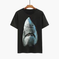 Hop T Shirt Mens Stylist magliette Uomini Donne Hip stampa 3D Shark Stylist Shirt S-2XL