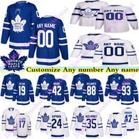 Erkek Çocuklar Kadının Toronto Maple Leafs Formalar 17 Wendel Clark 93 Doug Gilmour Zach Hyman Kapanen Herhangi bir Numarayı Özelleştir Herhangi Bir Ad Hockey Jersey