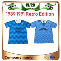 1991 Lazio Retro Sürüm Futbol Forması 1989 1991 Lazio İmmobil Sergej Lulic Luis Alberto Futbol Gömlek Özelleştirilmiş Futbol Üniforması