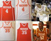 Pallacanestro Mens Texas Longhorns # 4 Mohamed Bamba Mo Jersey Arancione 35 Durant Stitched College Baskeys Baskeys Size S-2XL