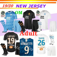OM Marseille Olympique BENEDETTO soccer jerseys adult kits 2...