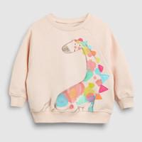 Herbst Frühling 2021 Baby Mädchen Hoodie Langarm Niedlich Sweatshirt 2 Design Kinder Baumwolle Sweatshirts 19072002