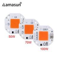 100W 70W 50W soldadura libre de LED COB Viruta para el cultivo de plantas crece la tienda 220V 110V LED crece espectro completo de la lámpara LED Phyto
