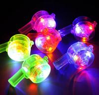Мигающий светодиод мигает Свисток светящийся Светящийся Свистки + Радуга ожерелье Noise Maker Rock Party Рождество подарок игрушки концерт вентилятор атмосфера реквизита