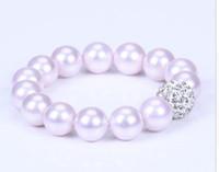 Бесплатный shipping14mm мода фиолетовый натуральный браслет оболочки