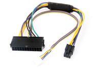ATX 24 PIN a 2 PORTA 6 PIN Cavo di alimentazione del cavo di alimentazione del connettore del connettore del connettore del connettore per HP 8100 8200 8300 800G1 Elite 30cm 18Awg 100pcs DHL