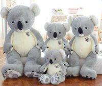 Fluffy cuddly jätte stor plysch koala björn fyllda djur leksaker kuddar kudde födelsedag gåvor för tjejer pojkar barn flickvän 70 90 120cm
