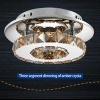 12 W Ronde Crystal Light Moderne Simple LED gangpad Licht Crystal Light Plafondverlichting Woonkamer Slaapkamer Lamp Entree Aisle Plafondlampen