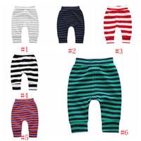 Bébé Vêtements Enfants Rayé Pantalon Infantile Anti-moustique Split Pantalon Garçons Filles Coton PP pantalon élastique doux Nuit Pyjamas legging PY484