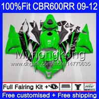 Injection Pour HONDA CBR 600RR CBR600 RR 2009 2010 2011 2012 282HM.49 CBR 600 RR 600F5 F5 CBR600RR Vert noir chaud 09 10 11 12 Kit carénages