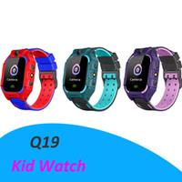 فتحة Q19 الذكية ووتش المعيشة Wateproof الاطفال الذكية ووتش LBS المقتفي Smartwatches بطاقة SIM مع كاميرا SOS لالروبوت فون والهواتف الذكية