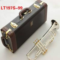 Самое лучшее качество Bach Bb труба инструмент LT197S-99 серебрения труба музыкальное профессиональное исполнение С чехлом