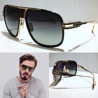 GM Cinque occhiali da sole di moda con protezione UV per uomo Vintage Square Frame Popolare Top Quality Vendita con custodia classica Occhiali da sole Vendita calda