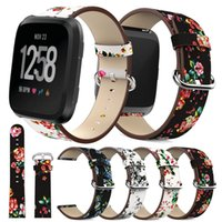 For Fitbit Versa band Genuine leather Wristbands Straps Brac...