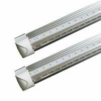 LED Tube Lights 8FT 6FT 5FT 4FT 3FT 2FT 1FT Integrated T8 Tube Lights 110LM / W Frostat Transparent Cover Cooler LED-lampor AC 85-265V UL DLC