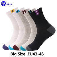 5 Paar Herren Baumwollkleid Socken Plus Large Big Size Eu 43, 44, 45, 46 Us10-13 Business Kleid Socken Calcetines Man Men's Sox MX190719