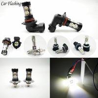 2 piezas de H1 H3 H7 H8 H10 H11 880 881 Bombillas LED HB4 9006 HB3 9005 Niebla Luces de conducción de la cola de estacionamiento de la lámpara DRL 12V - 24V 6000K blanca