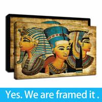 준비하려면 끊기 - 고대 이집트 액자 캔버스 벽 예술 오일은 벽 예술 그림 벽 장식 인쇄의 giclee 캔버스 회화