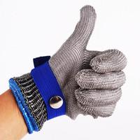 ALKTECH 1PC Anti-Cut-Handschuhe Sicherheits-Cut-Proof-Stich-resistente Edelstahl-Wire-Metall-Möbeln Metzger Cut-resistente Handschuhe