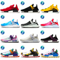 31db7294c NMD human race NEW Pharrell Williams HU Trail EQUALITY HOLI Mens Designer  Sports Running Shoes Men Sneakers Women Casual Trainers With Box