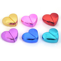 높은 학년 휴대용 향수 병 사랑 심장 모양의 작은 스프레이 병 알루미늄 금속 쉘 스토리지 박스 3 6yjw