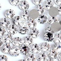 Décorations de Super Glitter Strass Crystal Clear SS3-SS50 non HotFix FLATBACK verre Nail Art strass brillant ongles décorations H0014