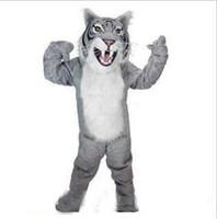 Traje del traje de la cabeza de la mascota del gato de tigre de Bengala de encargo profesional caliente de la venta 2018 de Halloween