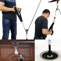 피트니스 DIY 풀리 케이블 기계 부착 시스템 팔 팔뚝 triceps 블래스터 핸드 강도 훈련 홈 체육관 운동 장비