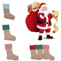 Christmas Canvas Stocking Gift Bag Stocking 30*45cm Christma...