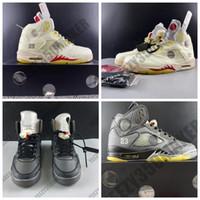 2020 OG قبالة كريم لامع عاكس 5 5S 3M رباط الحذاء الأبيض أحذية كرة السلة للرجال رياضي الرياضة احذية المصممين المدربين US7-13