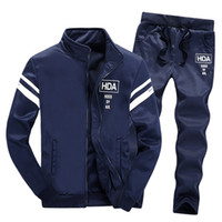Men Set Clothing Cotton Casual Sportswear Tracksuits Sweatsh...